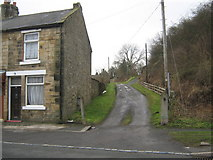 NZ1426 : Old road to Evenwood Station County Durham by peter robinson