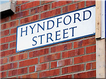 J3673 : Hyndford Street sign, Belfast by Albert Bridge