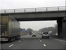 SJ7758 : M6 Motorway - Overbridge Near Cross Bank Farm by Whatlep