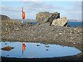 SW8023 : Lifebuoy on Porthkerris Point by Rod Allday