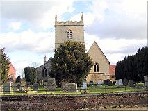 SK8354 : All Saints Church, Coddington by Peter Langsdale