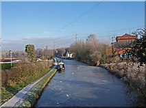 SO8689 : Staffordshire & Worcestershire Canal - looking northeast from Hinksford Bridge by P L Chadwick