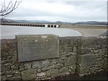SD4578 : Plaque beside the memorial clock, Arnside promenade by Karl and Ali