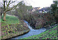 SO8692 : Wom Brook in Wombourne, Staffordshire by Roger  Kidd