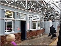 NT9953 : Scaffolding on Platform 2, Berwick upon Tweed Station by Christine Johnstone