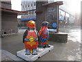 SJ3589 : Go Penguins outside the Philharmonic Hall by John S Turner