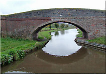 SK0220 : Taft Bridge (No 69) near Bishton, Staffordshire by Roger  Kidd