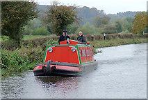 SK0220 : Tug style canal cruiser near Bishton, Staffordshire by Roger  Kidd