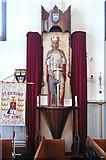 TQ1090 : St Edmund the King, Northwood Hills - Statue by John Salmon