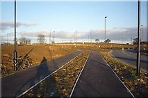 SE6350 : Cycle paths and new roundabout by DS Pugh
