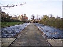 TQ5243 : Penshurst Place Flower Border under cover by David Anstiss