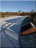 SX9066 : Shadows on snowy road, Barton by Derek Harper