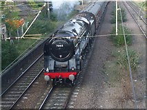 TG2407 : 70013 Oliver Cromwell exiting Trowse by Ashley Dace