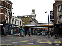 TQ3382 : Shoreditch:  East end of Old Street and Shoreditch Town Hall by Dr Neil Clifton