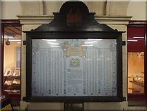 SX9193 : War memorial, Exeter St David's station by David Smith