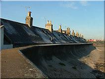 NJ9505 : Sea wall at Footdee by Steven Brown