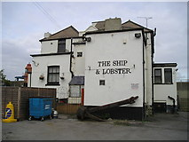 TQ6674 : The Ship and Lobster Pub, Gravesend by canalandriversidepubs co uk