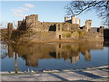 ST1587 : Caerphilly: the castle from the south by Chris Downer