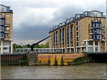TQ3680 : Nelson Dry Dock, Rotherhithe, London by Christine Matthews