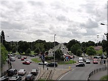 TQ1372 : Traffic Roundabout in Whitton by Anonymous