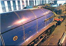 NZ8204 : Interior of Grosmont locomotive shed by Peter Langsdale