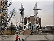 SJ8097 : Lowry Square and footbridge by David Dixon