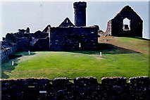 SC2484 : Peel Castle interior - View towards southwest corner by Joseph Mischyshyn
