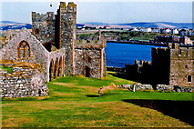 SC2484 : Peel Castle interior - St German Cathedral, Peel Bay by Joseph Mischyshyn