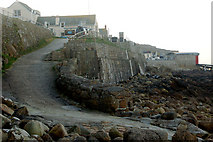 SW3526 : Ramp onto the foreshore by the Old Success Inn, Sennen Cove by Andy F