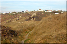 SW3526 : Path through the dunes at Carn Towan, Sennen Cove by Andy F