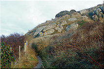 SW3526 : Lower of two 'pillbox' gun emplacements above Sennen Cove (2) by Andy F