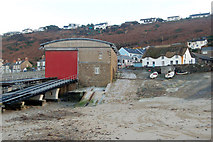 SW3526 : Sennen Cove lifeboat station from the beach by Andy F