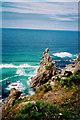 SW4136 : Porthmoina Island from the coast path by Richard Law
