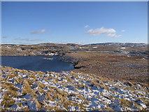 SN7767 : Llyn Pond Gwaith from Pen y Bryn by Rudi Winter