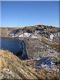 SN7767 : Dam, Llyn Pond Gwaith by Rudi Winter