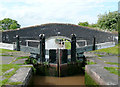SJ6448 : Lock No 2 and Bridge No 86 at Hack Green, Cheshire by Roger  Kidd