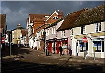 TM0458 : Bury Street, Stowmarket by Andrew Hill