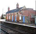 TL9787 : Harling Road station - the old station building by platform 2 by Evelyn Simak