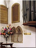 TL8783 : St Cuthbert, Thetford, Norfolk - Piscina by John Salmon