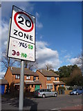 SZ0894 : Bournemouth : Winton - Victoria Park Road & Speed Sign by Lewis Clarke