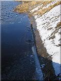 SN7767 : Ice sheet on Llyn Pond Gwaith by Rudi Winter