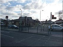 SZ0995 : Bournemouth : Muscliff - Castle Lane West Pedestrian Crossing by Lewis Clarke