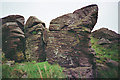 SD7559 : Millstone Grit Whelpstone Crag by Tom Howard