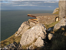 SH7584 : Derelict lookout by Jonathan Wilkins