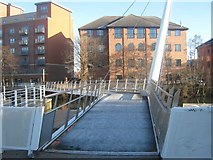 SK3536 : Derbys new Swing Bridge, Cathedral Green, Derby by Eamon Curry
