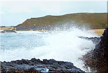 SW5842 : Winter waves at Godrevy (3) by Andy F