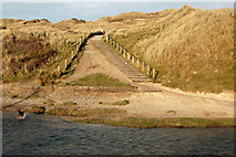 SW5842 : Steps to the carpark above the Red River, Godrevy by Andy F