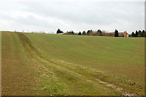 SP5163 : Farm track up a hill southwest of Flecknoe by Andy F