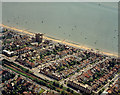 TQ8685 : Aerial view of Southend seafront: Westcliff station and seafront by Edward Clack