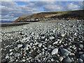 SH5810 : Afon Gwril, as it flows into sea by Dave Croker